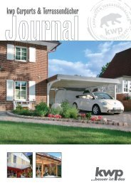 kwp Carports & Terrassendächer - KWP Baumarkt