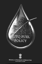 Auto Fuel Policy - Ministry of Petroleum and Natural Gas