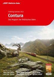 Contura Sommer 2013 - Das Magazin der Rhätischen Bahn