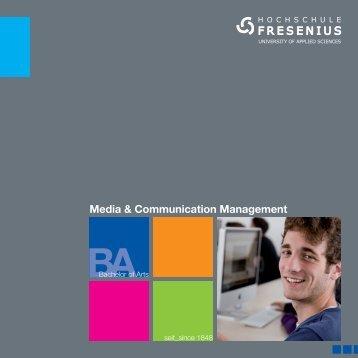 Media & Communication Management - Hochschule Fresenius