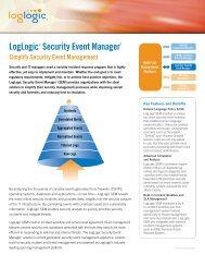 LogLogic® Security Event Manager* - Netteam