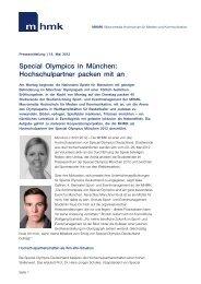 Special Olympics in München - MHMK Macromedia Hochschule für ...