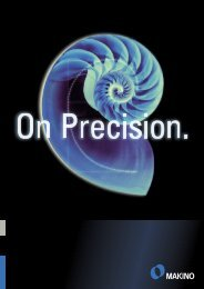 On Precision. (PDF 2,7 MB) - Makino Europe GmbH