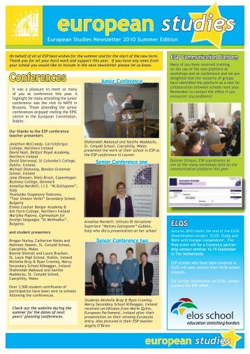 Summer 2010 - European Studies