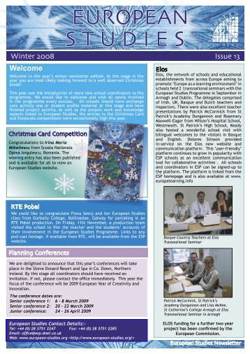 Autumn 2008 - European Studies