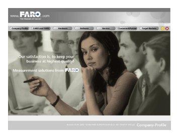 CAM2 and FARO Hardware Software Service Customer&Partner ...