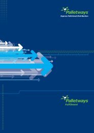 Download our Fulfilment - Palletways