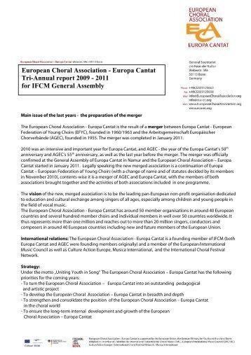 European Choral Association - Europa Cantat Tri-Annual report ...