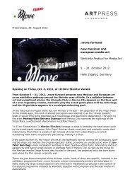 . move forward new mexican and european media art Werkleitz ...