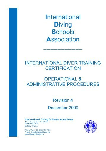 International Diving Schools Association ______