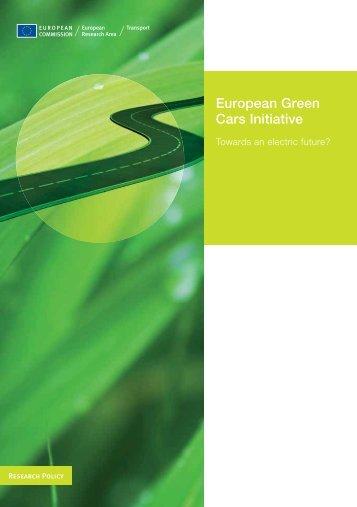 European Green Cars Initiative - EU Bookshop - Europa