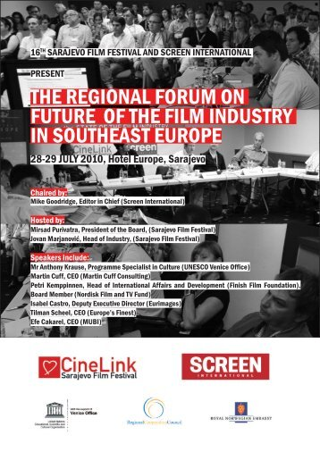THE REGIONAL FORUM ON FUTURE OF THE FILM INDUSTRY IN SOUTHEAST ...