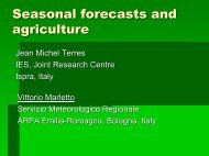 Seasonal forecasts and agriculture - ecmwf