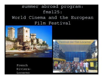 World Cinema and the European Film Festival - UC Davis Summer ...
