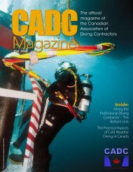 FALL 2010 issue available HERE - Canadian Association of Diving ...