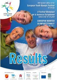 European Youth Olympic Festival X Festival Olympique de la ...