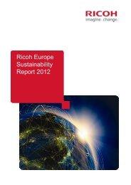 Ricoh Europe Sustainability Report 2012 Ricoh Europe ...