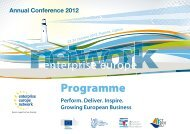 Programme - Enterprise Europe Network 2012 Annual Conference