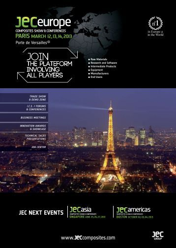JEC Europe 2013 brochure - JEC Composites