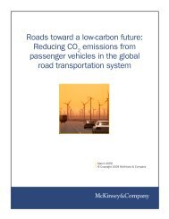 Roads toward a low-carbon future - McKinsey & Company