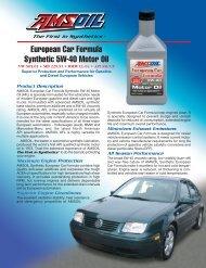 European Car Formula Synthetic 5W-40 Motor Oil - Synpsg