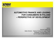 automotive finance and leasing for consumers in poland - Leaseurope