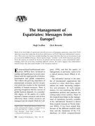 The Management of Expatriates: Messages from Europe?