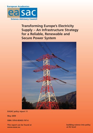 Transforming Europe's Electricity Supply – An ... - EASAC