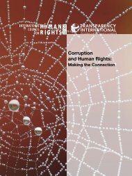 Corruption and Human Rights: Making the Connection - The ICHRP