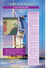 United Arab Emirates United Arab Emirates - IBFAN