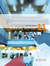 Annual Report 2011 - EDHEC Business School