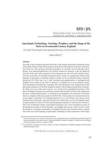 EFD / JFL - Hacettepe Üniversitesi Edebiyat Fakültesi Dergisi