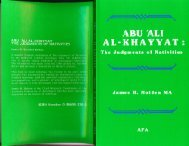 ABU 'ALI AL-KHAYYAT THE JUDGMENTS OF NATIVITIES
