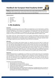 Handbuch - European Hotel Academy