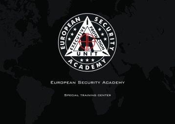 E.S.A. Catalog - European Security Academy