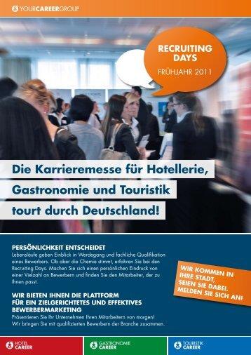 Die Karrieremesse für Hotellerie, Gastronomie ... - Recruiting Days