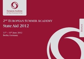 "2nd European Summer Academy ""State Aid 2012"""