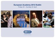European Academy 2012 Dublin - Association of Optometrists Ireland