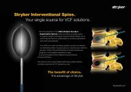 Stryker Interventional Spine. Your single source for ... - Pain-doc.com