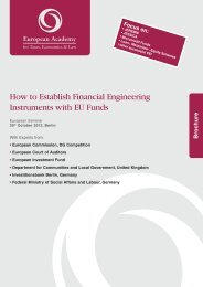 How to Establish Financial Engineering Instruments with EU Funds