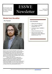 ESSWE Newsletter - European Society for the Study of Western ...