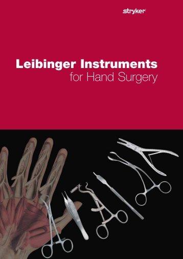 Leibinger Instruments for Hand Surgery - Stryker