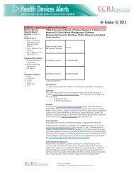 FDA Announces Recall of Stryker Neptune 1 and 2 ... - ECRI Institute