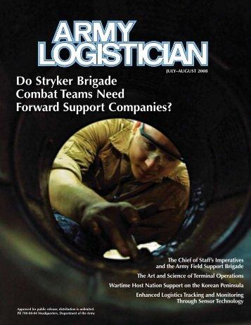 Do Stryker Brigade Combat Teams Need Forward Support ...
