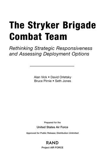 The Stryker Brigade Combat Team: Rethinking Strategic ...