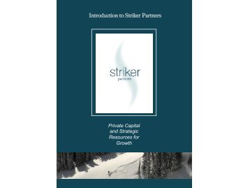 For an introduction to Striker in PDF click - Striker Partners