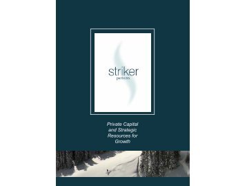 Private Capital and Strategic Resources for Growth - Striker Partners
