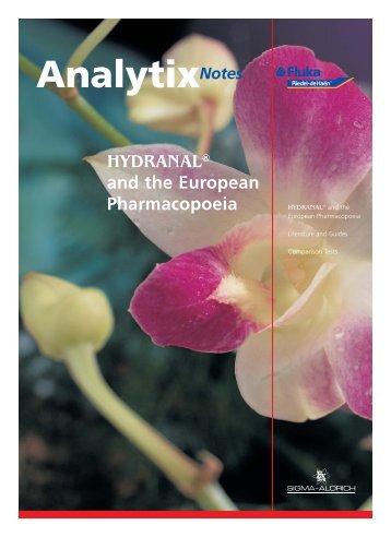 Analytix_4.05_flyer_e.indd - Sigma-Aldrich