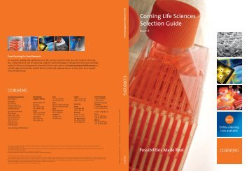 Corning Life Sciences Selection Guide - Fisher Scientific
