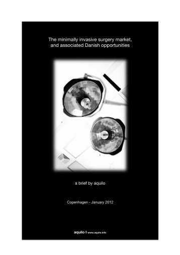 The minimally invasive surgery market, and associated Danish ...